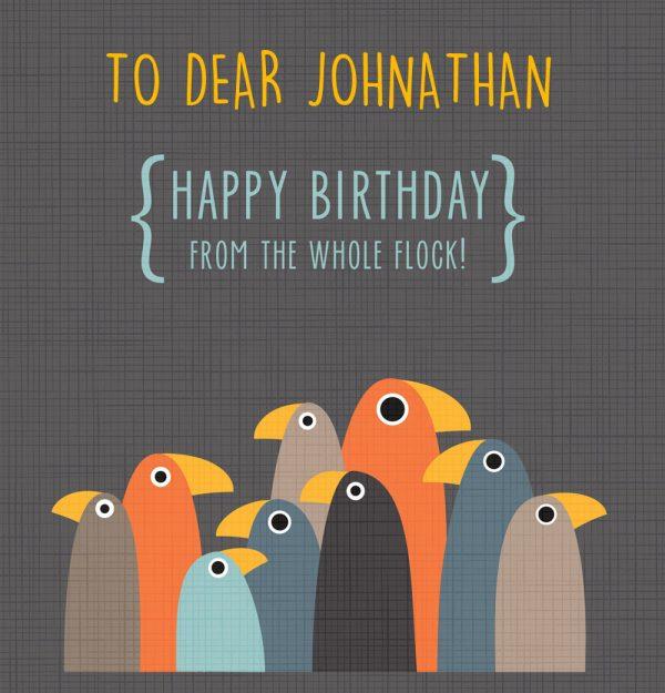 Birthday Flock